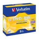 DVD+RW 4,7 GB (pack di 5) / VERBATIM / 12280135