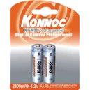 Blister 2 Batterie Ricaricabili Stilo AA 2300mAh / Konnoc / IBT K23