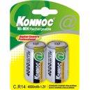 Blister 2 Batterie Ricaricabili Mezza Torcia C 4000 mAh / Konnoc /